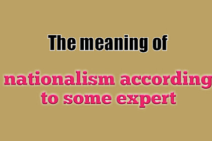 The meaning of nationalism according to some expert