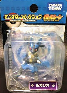 Lucario figure Takara Tomy Monster Collection Battle Scene series