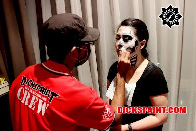 face painting horror skull zombies jakarta