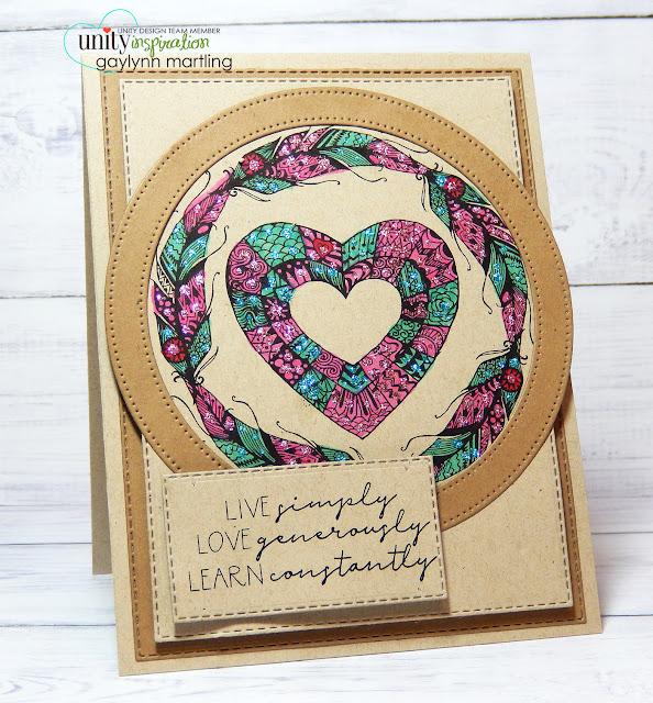 Neat Nook Creations: Framed heart inspirational handmade card.