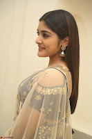 Niveda Thomas in Lovely Blue Cold Shoulder Ghagra Choli Transparent Chunni ~  Exclusive Celebrities Galleries 002.JPG