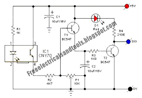 Free Schematic Diagram: Line Following Robot Sensor