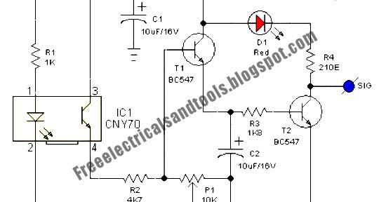 Free Schematic Diagram: Line Following Robot Sensor