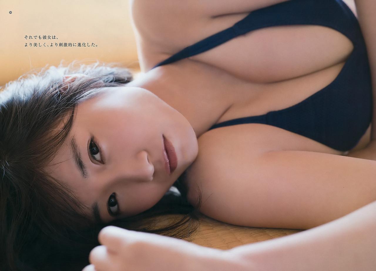 Tomonaga Mio 朝長美桜 HKT48, Young Gangan 2017.06.02 No.11 (ヤングガンガン 2017年11号)