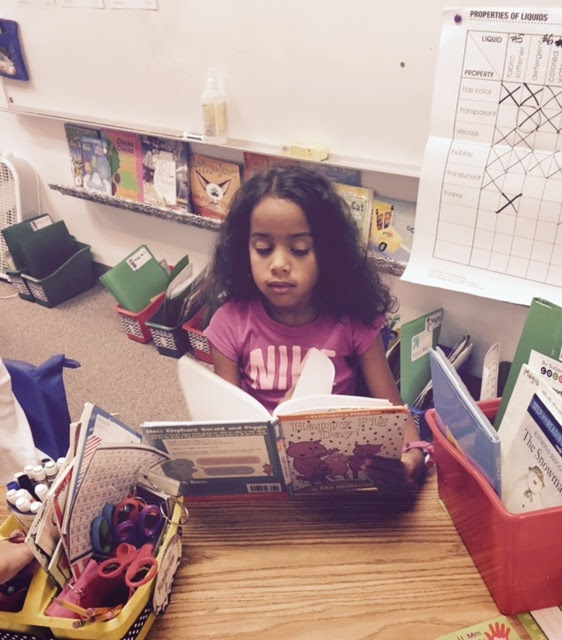 read to self; reading response; first grade