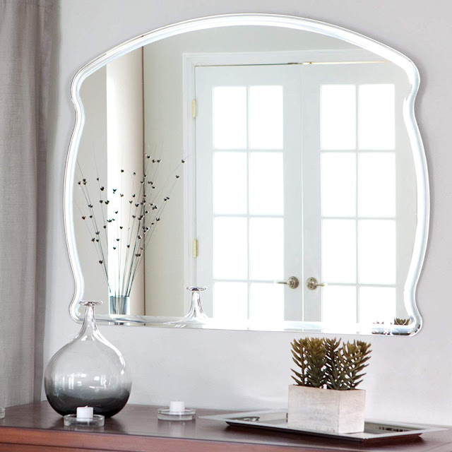 Quality Glass Frameless Decorative Mirror | Mirror Glass for Wall | Mirror for bathrooms | Mirror in Home | Mirror Decor | Mirror Size : 18 X 24 inch