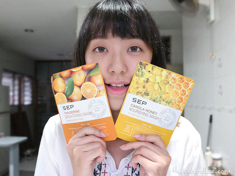 With SEP Tangerine Brightening Mask