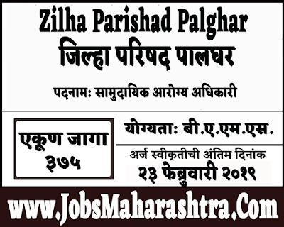 ZP Palghar Recruitment 2019