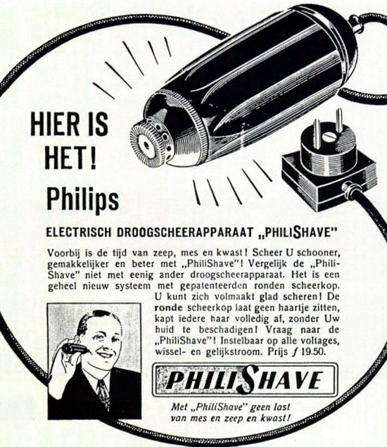 Philishave advertising, 1939