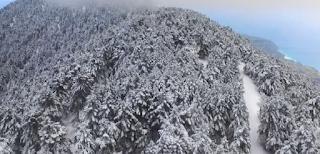 Το έστρωσε στην Κεφαλονιά- Εντυπωσιακό βίντεο, λευκό τοπίο ως το γαλάζιο της θάλασσας
