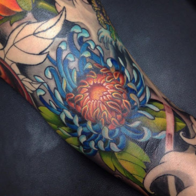 japanese tattoo art flowers