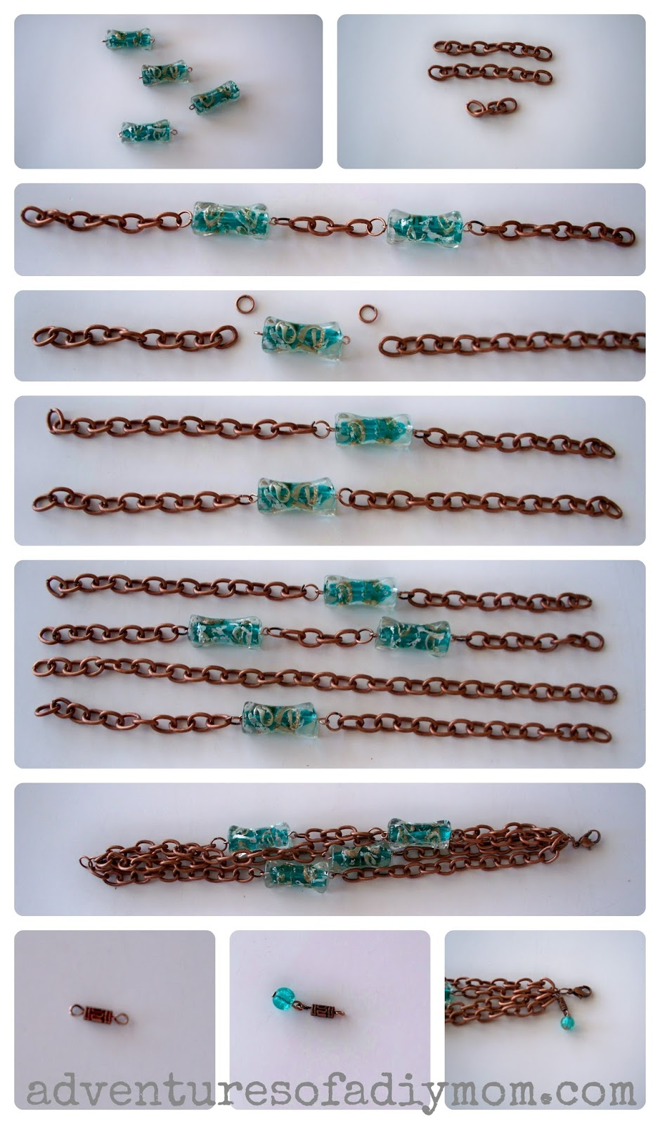 How to Make a Turquoise and Copper Bracelet