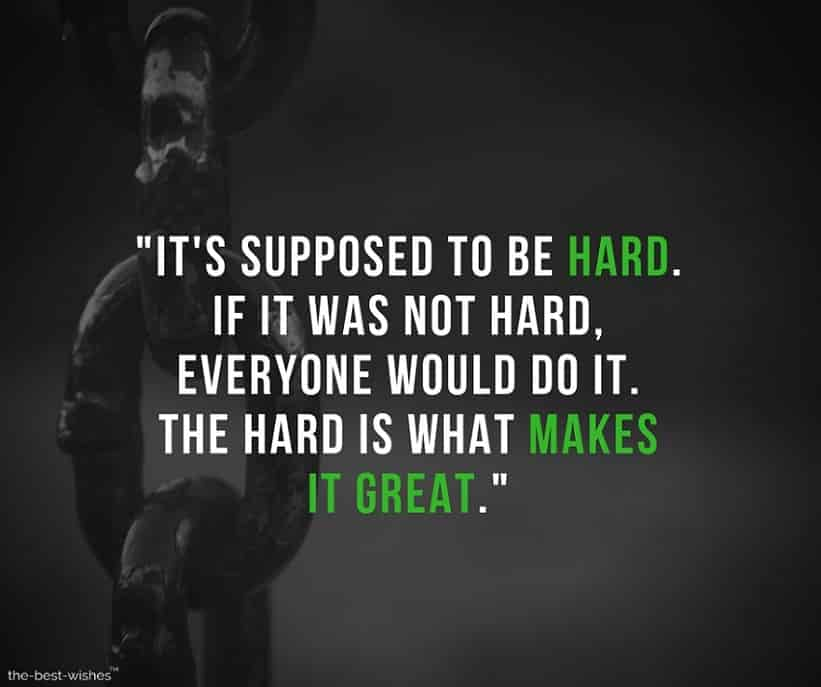 Motivational Quote on Being Tough and hard Image and Picture