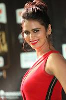 Meenakshi Dixit in Red One Shoulder Red Zipped up gown at IIFA Utsavam Award 29.JPG