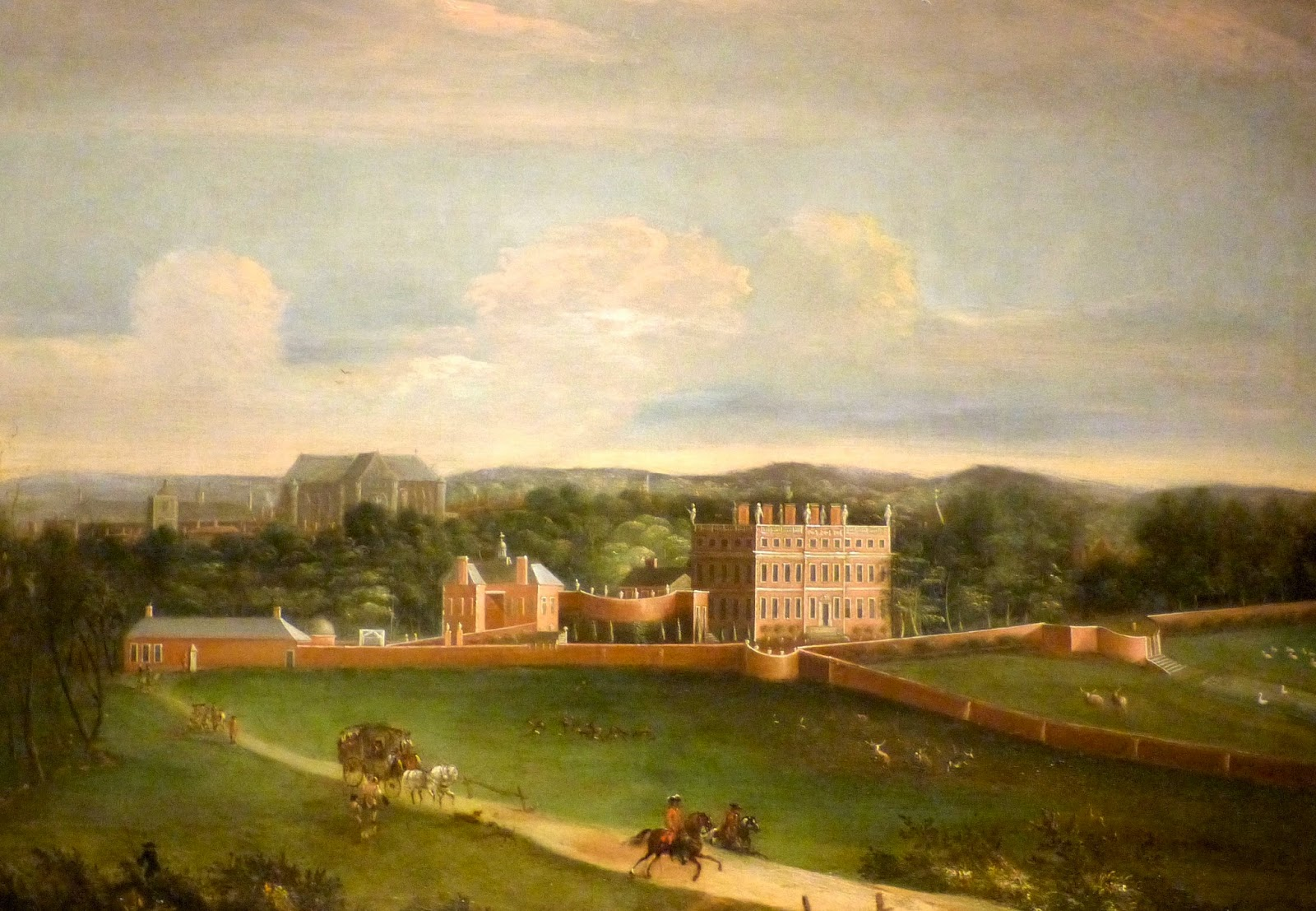 Buckingham House attributed to Adriaen van Diest (c1705)