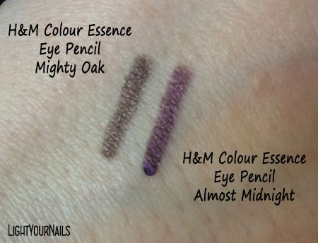 H&M Colour Essence Eye Pencil Almost Midnight + Mighty Oak