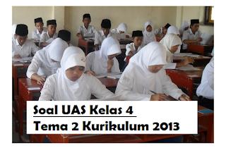 Soal UAS Kelas 4 Tema 2 Kurikulum 2013