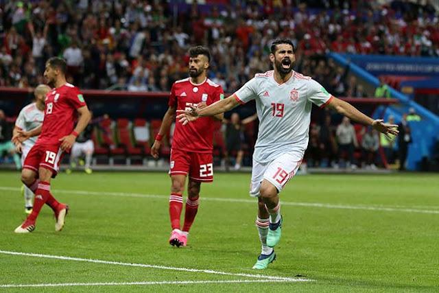 """Video Tây Ban Nha - Iran: Bàn thắng """"số đỏ"""", hú vía hãm thành 2"""