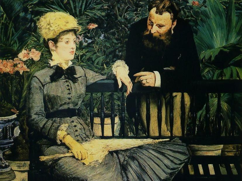 No Conservatório - Pinturas impressionistas pintadas por Édouard Manet