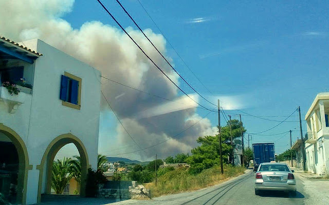 Καλύτερη η εικόνα στα Κύθηρα - Σε επιφυλακή οι πυροσβεστικές δυνάμεις για αναζωπυρώσεις