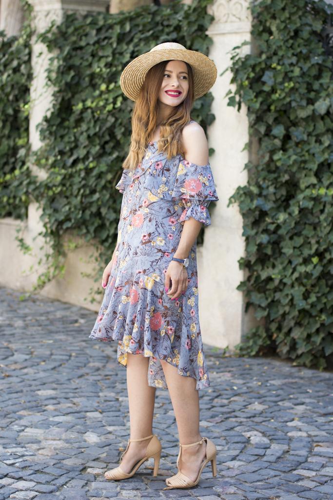 adina nanes floral dress rosegal review