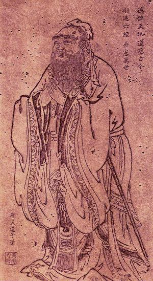 Confúcio -  pintor Wu Daozi entre  685-758