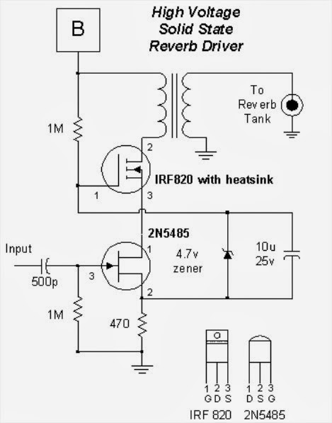 Schematic High Voltage Solid State Circuits for Tube Guitar Amplifiers