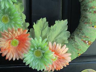Vintage ribbon green lace binding wreath New End Studio