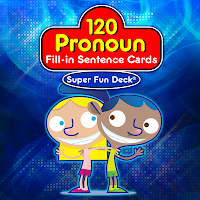 Pronoun Fill In Fun Deck - Apps for Working on Pronouns from And Next Comes L