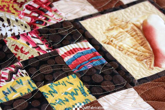 pantograph stitching detail