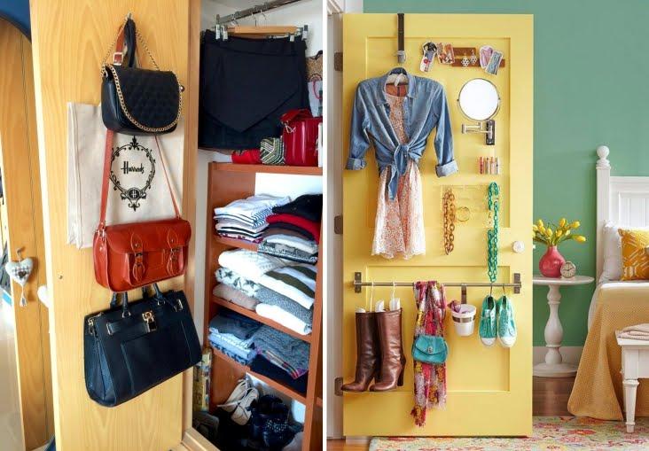 Shibar ita ideas para organizar los accesorios for Ganchos para colgar en las puertas