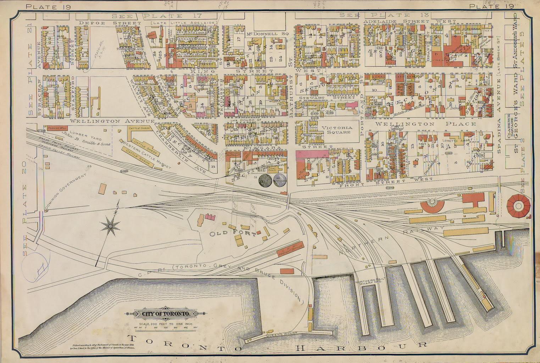 Plate 19, 1893 Goad Atlas of Toronto
