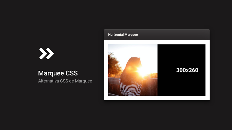 alternative marquee css without html