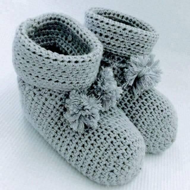 Botas tejidas para niños - Paso a Paso