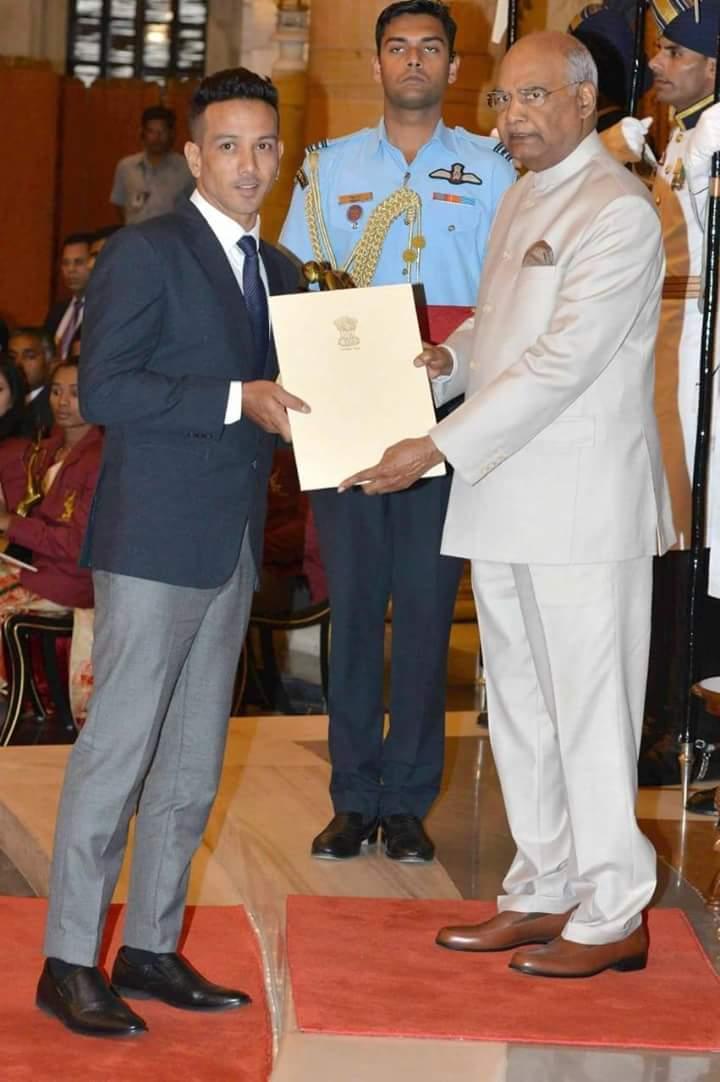 Bharat Chettri Wins Dhyanchand Award