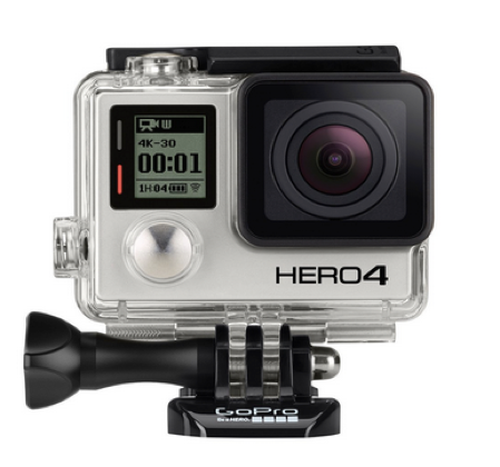 The GoPro: GoPro HERO4 Black 4K Action Camera