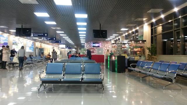 Аэропорт Богашёво, Томск - зал ожидания