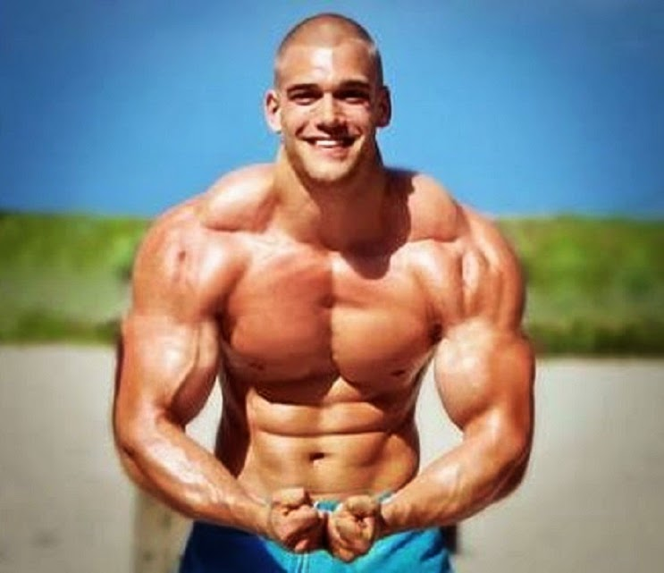 Young Bodybuilder Muscular Body