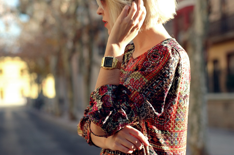 patchwork dress zara street style littledreamsbyr