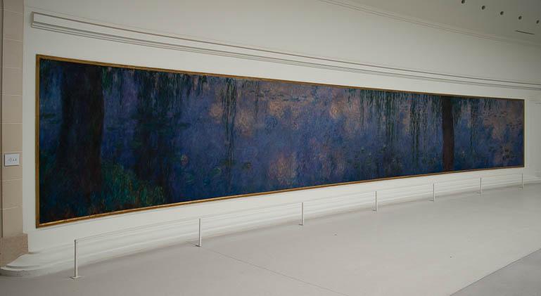 Un des tableaux des Nymphéas de Claude Monet au musée de l'Orangerie