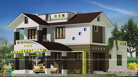 2325 sq-ft mixed roof 4 bedroom home