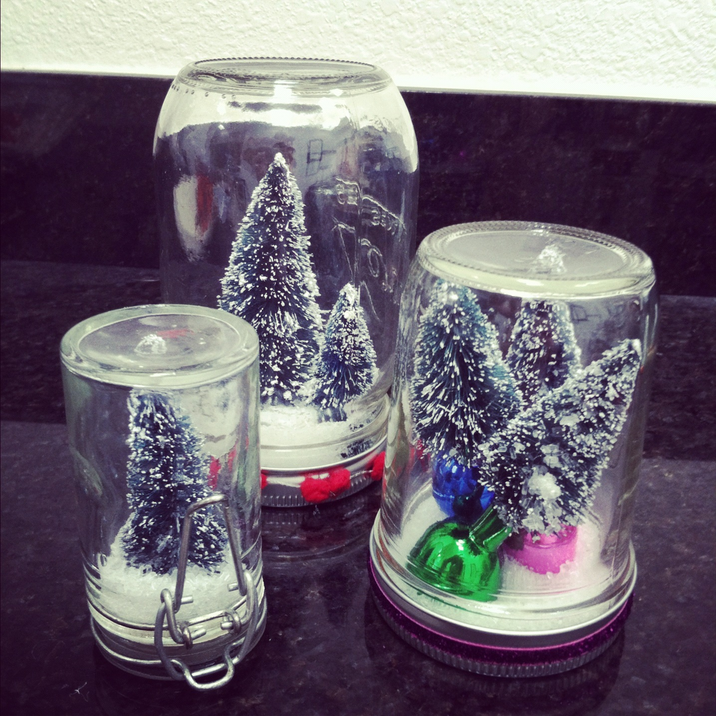 Christmas Glass Jar Snow Globe Craft