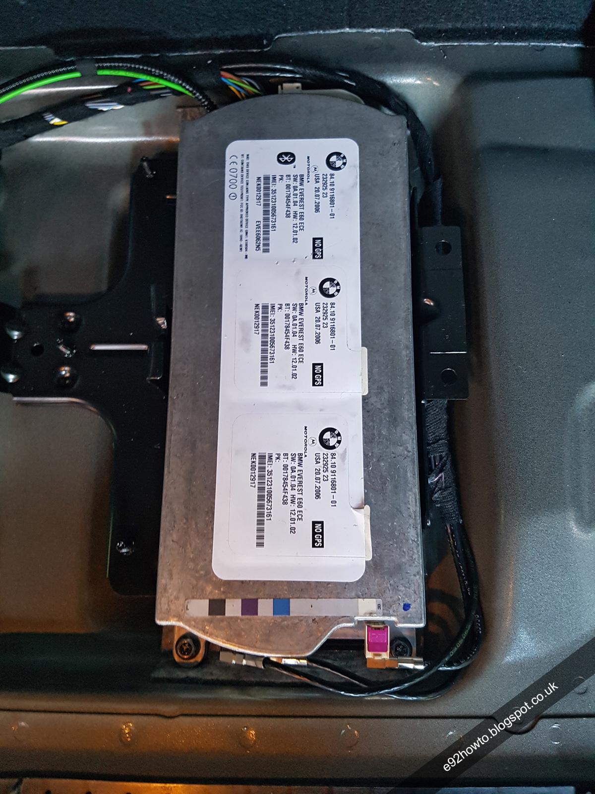 TCU (Telematics Control Unit) - Removal and Refitting | BMW