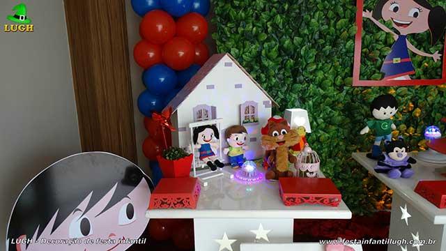 Mesa decorativa de aniversário Show da Luna