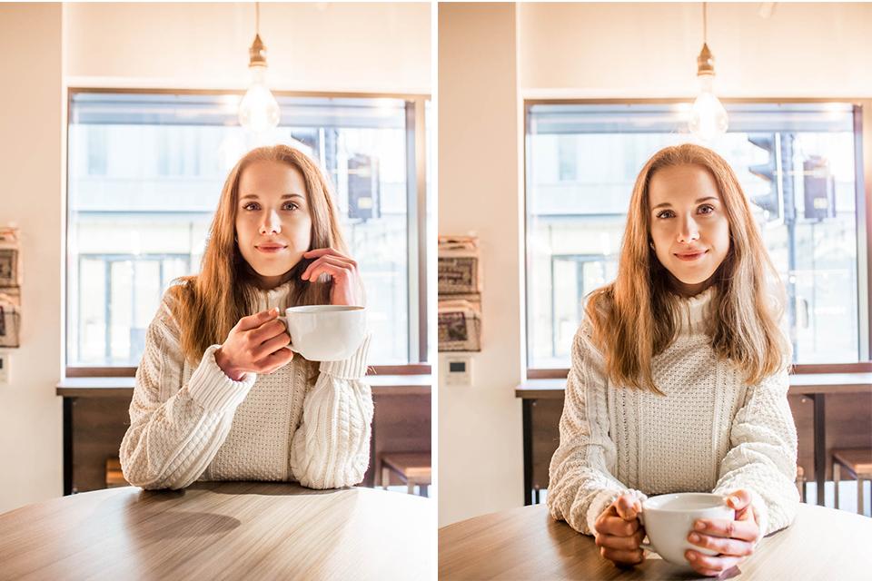 Woman drinking coffee in a coffee shop - Nuori nainen kahvilassa, kahvi, muotiblogi, bloggaaja