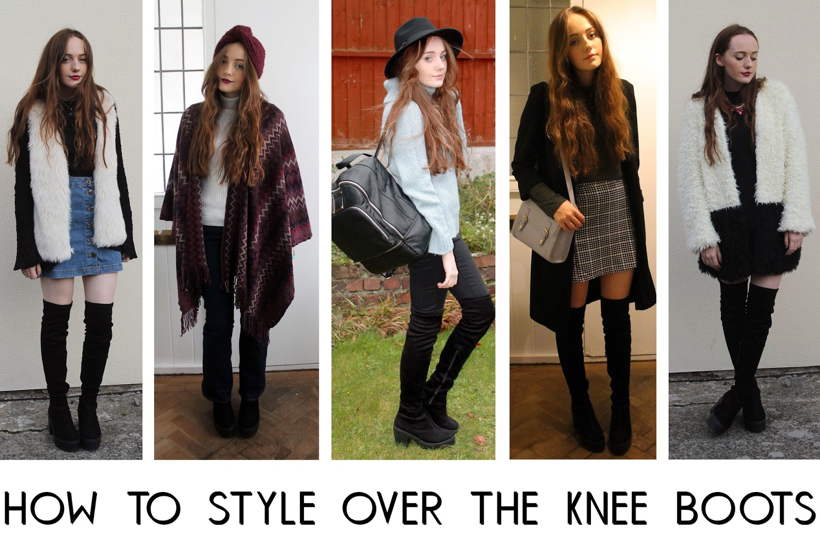 how to style over the knee boots five ways - casual, cosy, night out