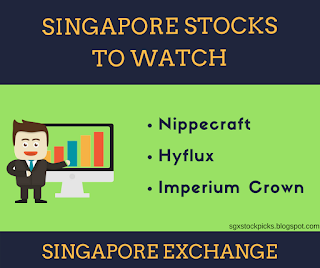Singapore stocks to watch -Nippecraft, Hyflux, Imperium Crown