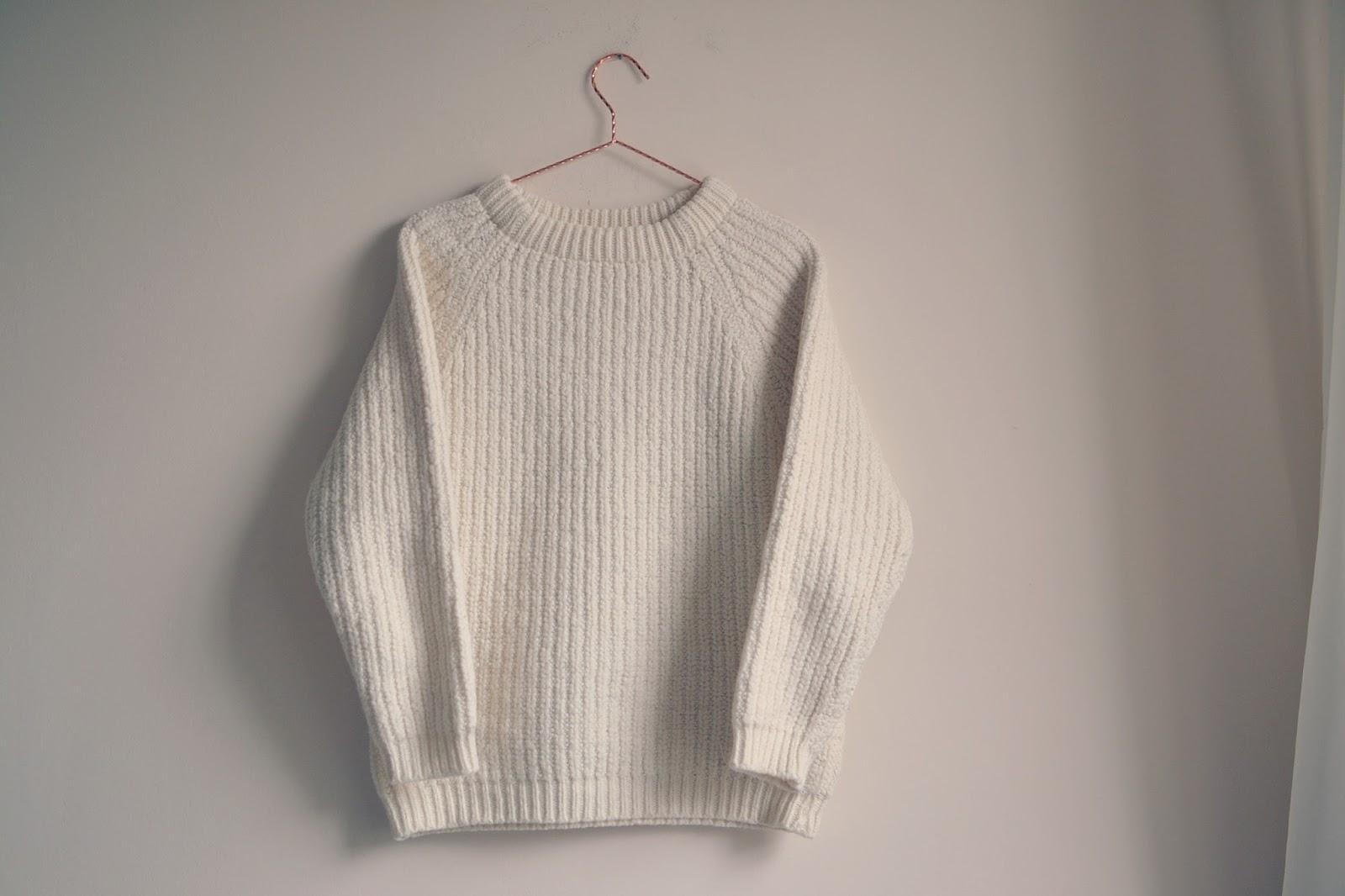 vintage cream jumper