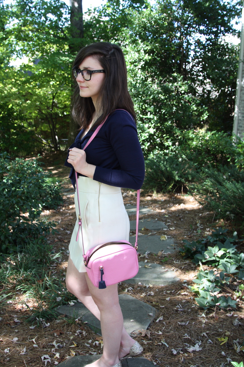 2017, OOTD, fall, winter white, leather, pink, sparkly, J.Crew,