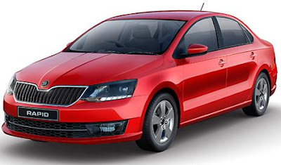 2017 Skoda Rapid Monte Carlo Red color Sedan car